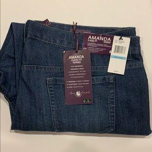 Gloria Vanderbilt Amanda jeans size 20 W short NEW